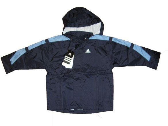 Оригинално детско яке adidas с качулка - 5/6 год - 116 см