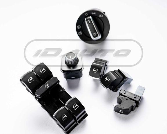 Конзола хром бутони копчета ,ключ за фарове / golf 5 6 / стъкла / vw