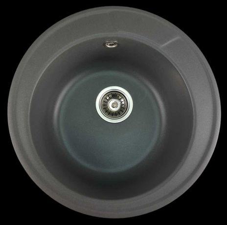Chiuveta Mixxus rotunda bucatarie compozit Granit Gri lavoar Garantie
