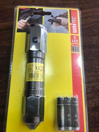 LED лампа Unitec с резачка за колан и чук за стъкло