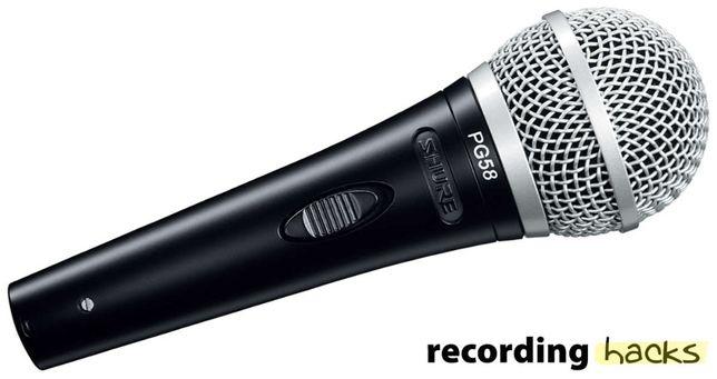 Microfon dinamic Shure PG-58,cablu si toc inclus