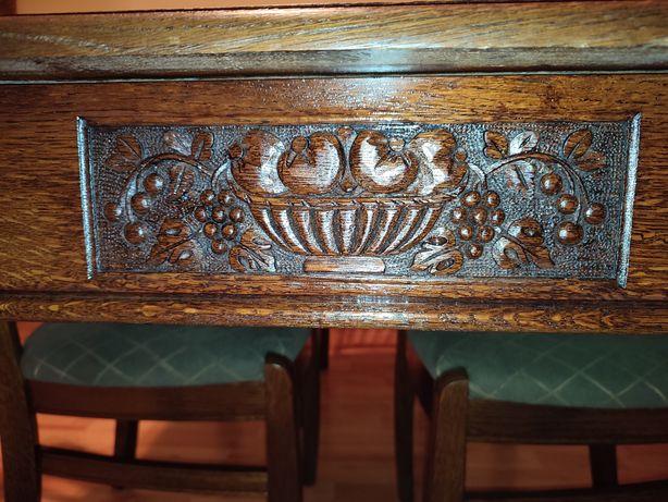 Masa Renastere cu scaune antică vintage retro