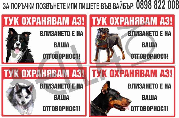 Табела за куче, котка, костенурка, папагал, стикери, забавни табели