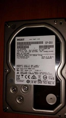 Hard disk 4TB 7200 128MB buffer hgst HDD folosit 2 luni Server PC NAS