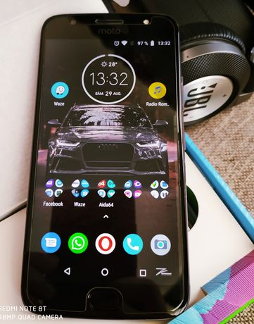 Telefon Motorola G5S Plus, octacore, 4G ram, amprenta, corp aluminiu