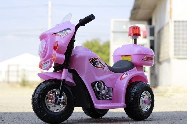 Motocicleta electrica pentru copil 1-3 ani, cu 3 roti LQ998 #Roz