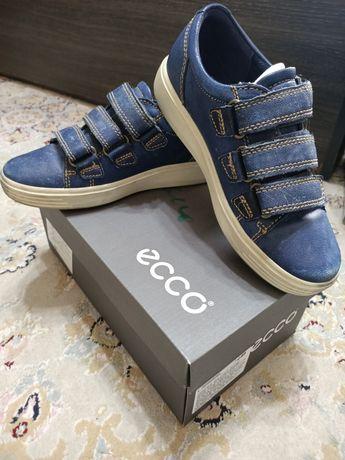 Кроссовки синие ECCO р.32, натуральная кожа почти новые