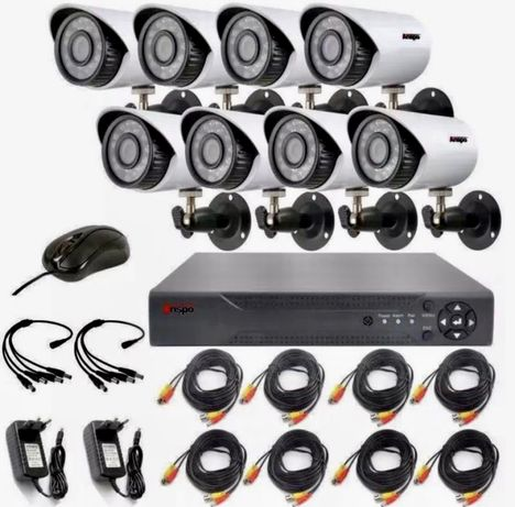 Kit Sistem 8 Camere Supraveghere +HDD 3MP Color IR 50M Internet