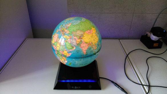 Декоративен светещ глобус ф20 см