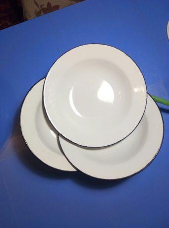 Тарелки эмалированые