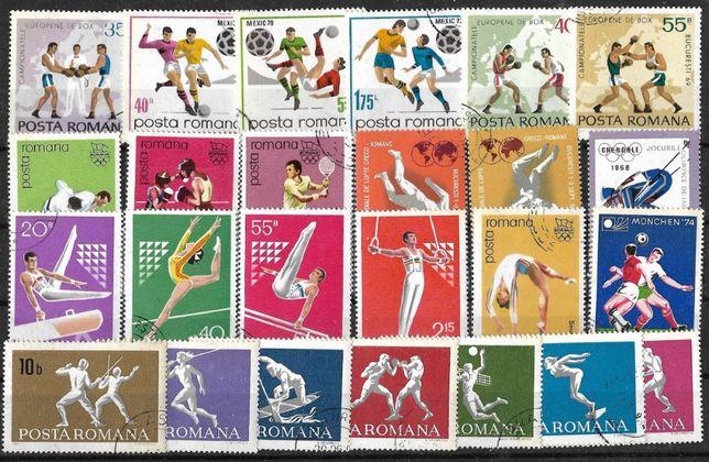 Super set de timbre din Romania tematica SPORT. Pret 25 lei toate