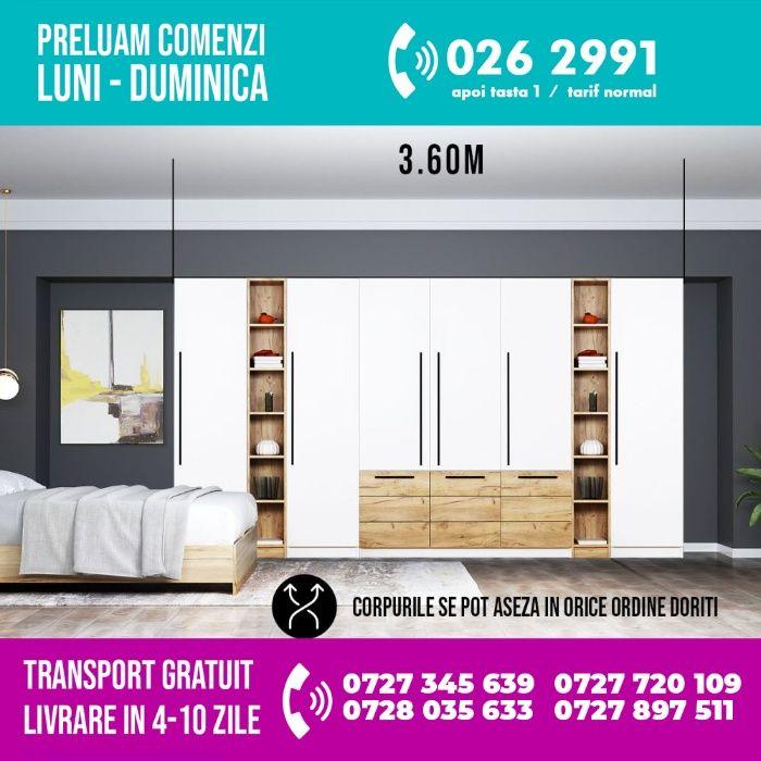 2186 lei - Dressing 3.60m / Dulap Dormitor Timea -