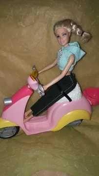 motocicleta Barbie + papusa Barbie/ scuter Barbie + papusa Barbie