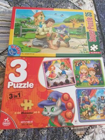 Set Puzzle 2 cutii - 4 puzzle