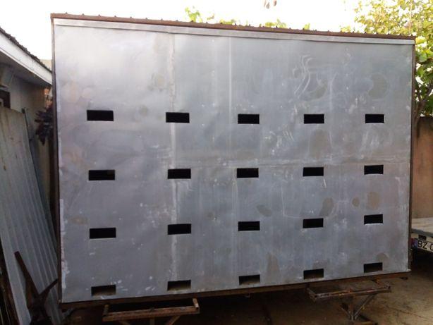 Pavilion containar apicol extensibil pt remorca de 750 kg