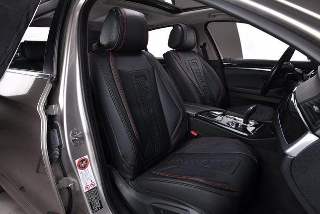 NEW Set huse Scaune Auto Fata 1+1 Flexzon ,Negru , Lux Piele ecologica