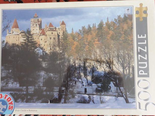 Puzzle Castelul Bran iarna 500 piese Nou