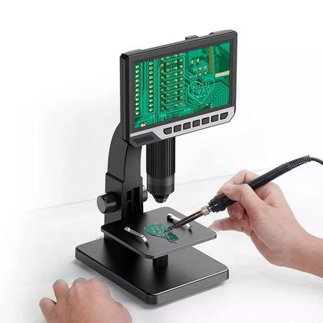 "Дигитален микроскоп 12 MP, 2000X, 7""IPS дисплей 1080P, 2 обектива, Led"