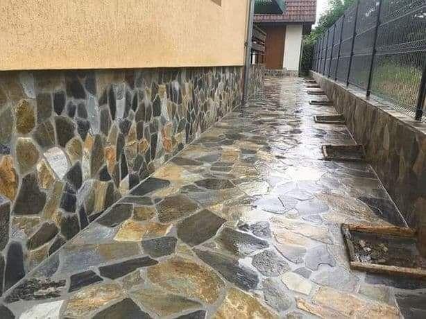 Piatră naturală de munte,pavaje,placare,gard,aleii,terasă,scării,etc.