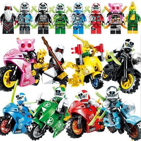 Minifigurine tip Lego Ninjago sezon 12 cu Richie si Unagami