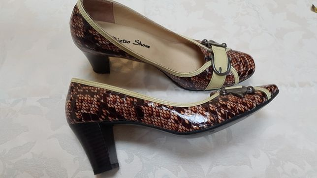 Pantofi piele naturală lăcuită Dieter Shoes 37