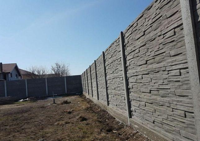 Gard placi beton