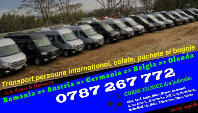 Curse ZILNICE transport de persoane si colete Romania Austria Germania