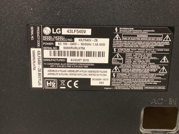 LG 43LF540v