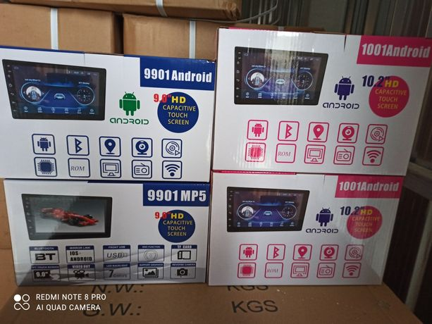MP5 auto 2DIN touchscreen Android/WiFi/BT/GPS 9inch/respectiv 10inch