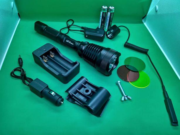 SET Lanterna vanatoare led XM-L T6 cu filtre color BL-Q2800