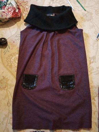 Фиолетовый кашемир тёплое платье от Moschino