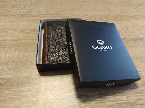 Мъжки портфейл от естествена кожа GUARD