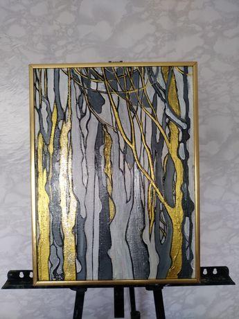 """Картина ручной работы """"абстракция""""-6000.(в раме)"""