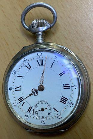 Ceas de buzunar carcasa argint L. Schroeder Louxembourg 1870-1880