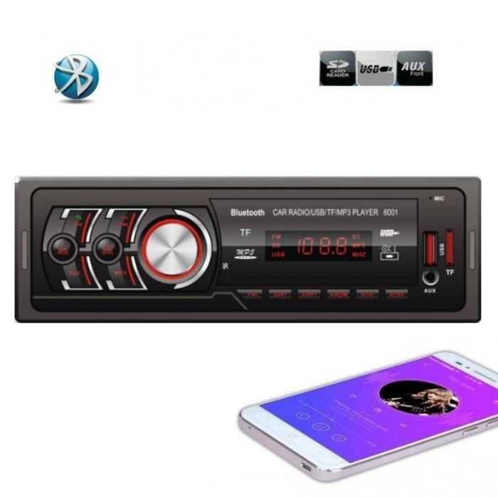Radio MP3 Player Auto cu Bluetooth, USB si Card Reader 6001 Casetofon Pitesti - imagine 1
