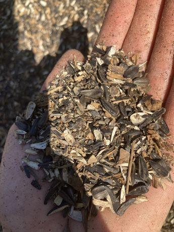 Зерноотходы от семечек в мешках по 400тг