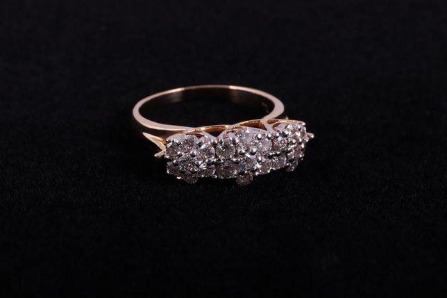Кольцо c бриллиантами, золото 750 (18K), вес 4.83 г. «Ломбард Белый»