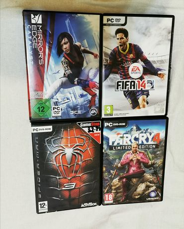 Jocuri PC originale far cry 4, spider-man 3, mirrors edge, Fifa 14