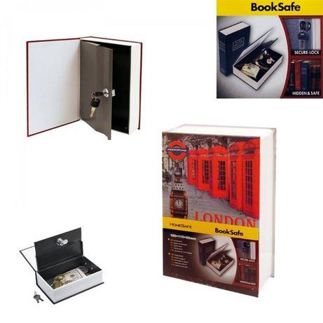 НОВО! Скрит стоманен сейф под формата на книга с 2 резервни ключа - 2