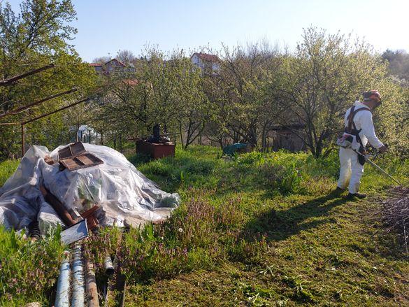 Косене на трева , поддръжка и почистване на тревни площи !