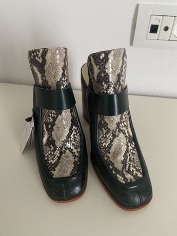 Pantofi din piele Zara