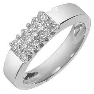 Диамантен пръстен 14карата 18 Диамaнта и Сертификат от AGL Нов кутия