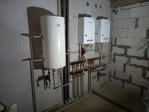 Отопление. Установка газовых котлов, установка радиаторов, теплый пол