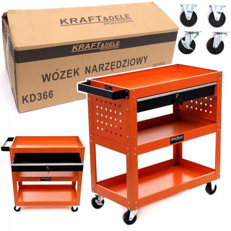 Carucior 3 Raft si sertar cu cheie pentru unelte atelier KD366