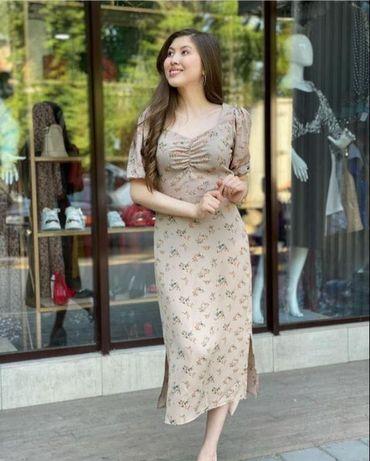 Платье 42-44 в бежевом цвете Одевала только один раз!