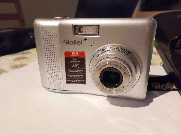 """Цифров фотоапарат """" Rollei compactline 130"""" + зарядно + 4 батерии"""