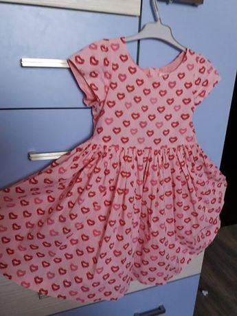 Розова рокля на целувки, размер 116