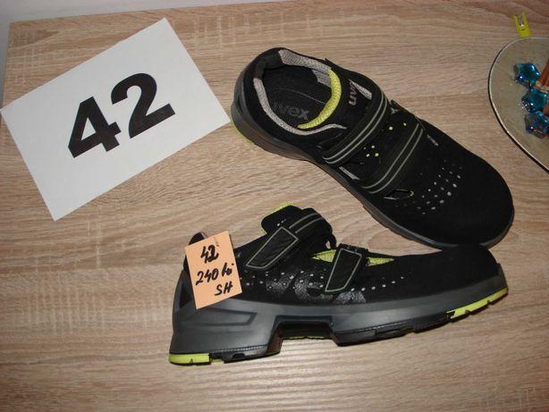 sandale uvex S1 42 negru/verde