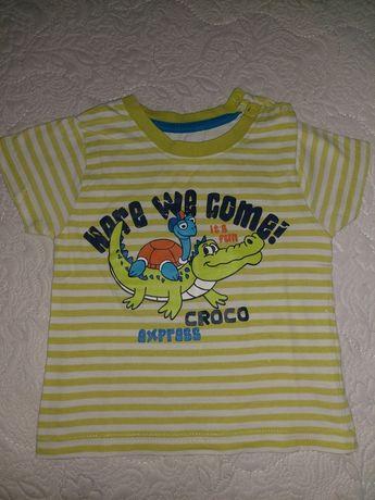 Продам летние футболки 80см