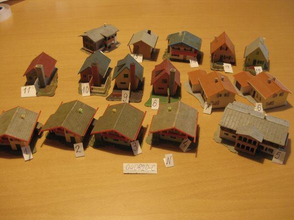 Сгради за Макет в Мащаб Z, 1:220, употребявани № 04082020 - C